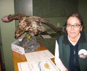 Mary Cramer in the Nebraska Nature & Visitor Center