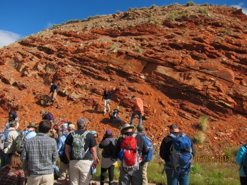The Red Peak formation formed in the Triassic, most likely in a desert environment that stood next to an ocean.  Teresa Avila/University of Missouri