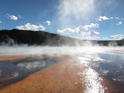 Yellowstone contains the greatest concentration of geysers in the world thanks to its location above a hotspot. Teresa Avila/University of Missouri